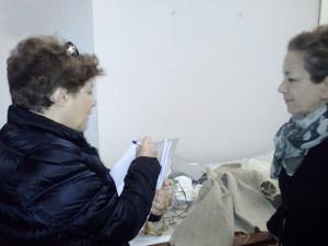 Myriam Cappelletti durante l'intervista