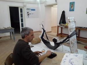 Carlo De Meo all'opera- Ponza, marzo 2014
