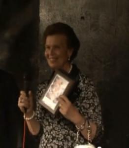 Mirella Romano alla premiazione 2013