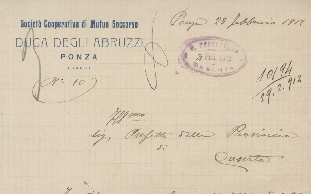 """La Società  Cooperativa di Mutuo Soccorso """"Duca degli Abruzzi"""" di Ponza"""